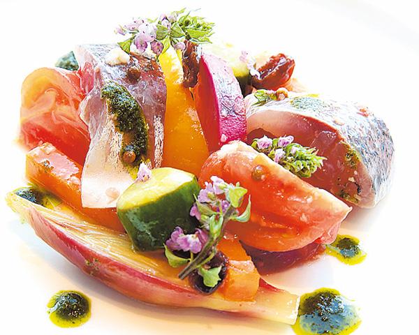 マアジと夏野菜のギリシャ風塩麹マリネ