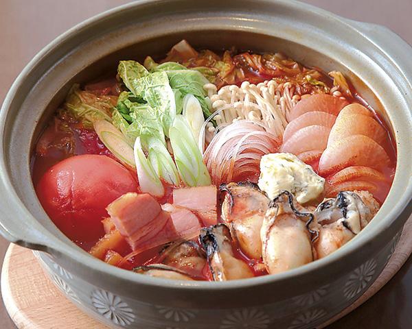 カキの洋風トマト鍋