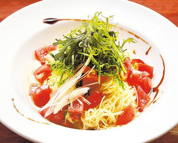 フレッシュトマトと大葉の冷たいカッペリーニ