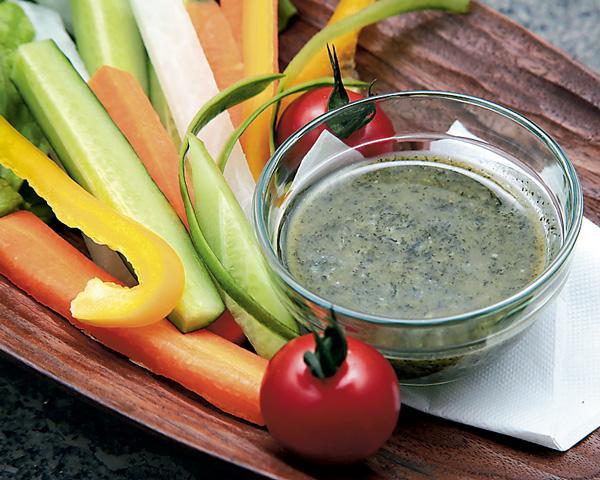 フレッシュ野菜と食茶ディップソース