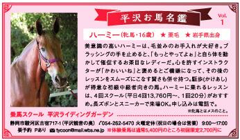 平沢お馬名鑑 Vol.1